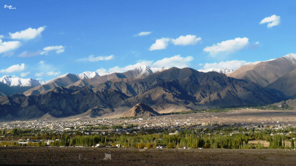 View of Leh Valley